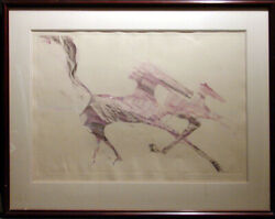 B C Nowlin Dream Of Horses ORIGINAL Monotype Hand Signed SUBMIT YOUR OFFER!