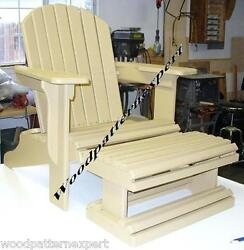 ADIRONDACK CHAIR W FOOT REST Paper Patterns BUILD IT LIKE EXPERT Easy DIY Plans