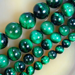 Green Tiger Eye Round Beads 681012mm Pick Size