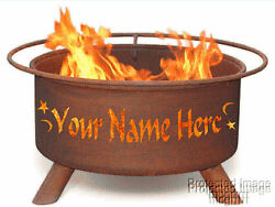 ~ Personalize Your Outdoor Patio Wood Burning Fire Pit - Your name