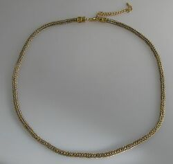 22K gold & fine silver hand woven rope chain with granulated end caps 19