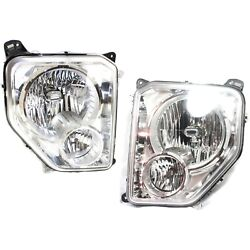 Headlight Set For 2008-2012 Jeep Liberty Left and Right With Fog Light 2Pc $170.73