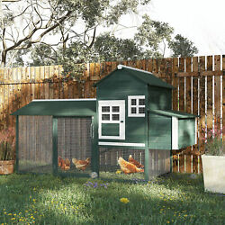 84quot; Wooden Chicken Coop Backyard Nest Box Hen House Wood Poultry Hutch Nesting $309.99