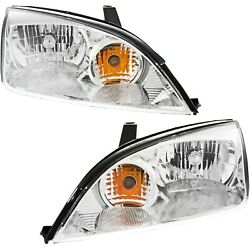 Headlight Set For 2005 2006 2007 Ford Focus Left and Right With Bulb 2Pc $94.17