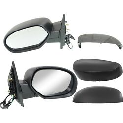 Side Mirrors Power Heated Folding Black Left amp; Right Pair Set for Chevy GMC $70.38