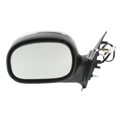 Power Side View Mirror Chrome & Black Driver Left LH for Ford F150 Truck $36.45