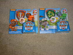 Brand New Paw Patrol Action Pack Pup & Badge Sets Zuma and Rocky with Badge