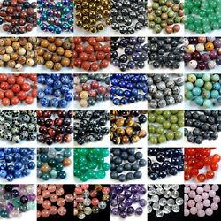 Wholesale Lot Natural Gemstone Round Spacer Loose Beads 4mm 6mm 8mm 10mm 12mm $4.98