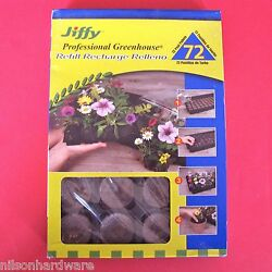 15pk Jiffy Professional Greenhouse Seed Starter 72 Cell Peat Pellet Refill J3R72