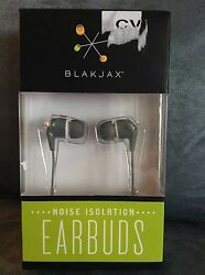 BLAKJAX BRAND IN EAR GRAY NOISE ISOLATION EARBUDS BRAND NEW IN BOX $3.99