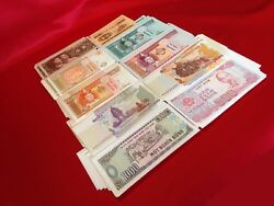 Uncirculated World Currency Lots  1950s-2000s  10 DIFFERENT NOTES $3.95