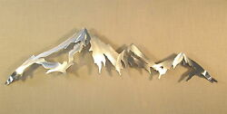 Mountain Range Cascade Mountains Metal Wall Art Home Decor Log Cabin Lodge Woods