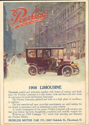 1908 Peerless Motor Car Co Cleveland OH Auto Ad Mineral Wool ma8969