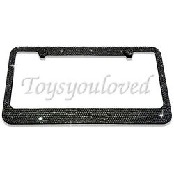 Black Diamond Gray Crystal Bling License Plate Frame made with Swarovski Element