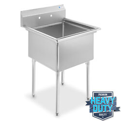 Commercial Stainless Steel Kitchen Utility Sink 30quot; wide