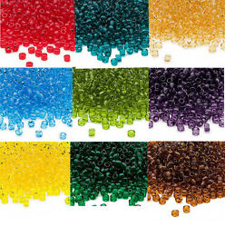 Lot of 200 Matsuno 6 0 Glass Seed Beads Shiny Transparent Colors Spacer Beads $1.00