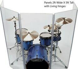 Drum Shield DS4 L 5 Section Drum Shield Acrylic Drum Panels with Flexible Hinges $314.95