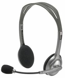 Logitech H111 3.5 mm Noise Cancelling Wired Headset With Mic Gaming for PC MAC $12.99