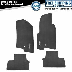 OEM Carpeted Floor Mats Embroidered Jeep Logo Slate Gray Set of 4 for Jeep New $152.30