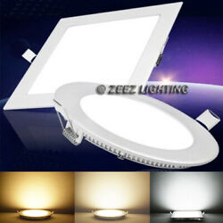 6W 9W 12W 15W 18W LED Recessed Ceiling Panel Down Lights Bulb Slim Lamp Fixture $37.19