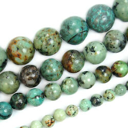 Natural Blue African Turquoise Round Gemstone Beads 15.5quot; 4 6 8 10 12mm Pick $8.99