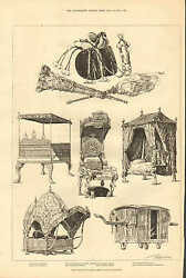 Prince Of Wales Furnishings Indian Gifts S. Kensington 1876 Antique Art Print