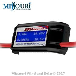 200 Amp Watt Meter Special Heavy 8 AWG Wire for Solar Panels or Wind Turbines $19.94