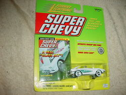 JOHNNY LIGHTNING SUPER CHEVY 1961 CORVETTE WITH RUBBER TIRES FREE USA SHIPPING $11.99