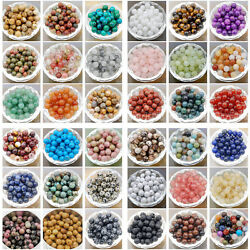 Wholesale Natural Gemstone Round Spacer Loose Beads 4mm 6mm 8mm 10mm $7.99