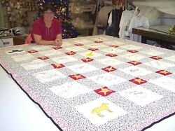 Old Time Country Music Stars Autograph Quilt Hand-crafted
