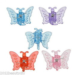 Wholesale Lots Plastic Hair Claw Clamp Hair Clip Butterfly 3.8x3.1x2cm Mixed