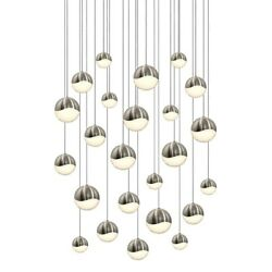 Sonneman Grapes 24 Light Round Assorted LED Pendant Satin Nickel - 2918-13-AST
