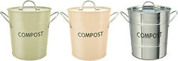 Eddingtons Eco Friendly Compost Pail Sage Buttercream Or Stainless Steel $22.76