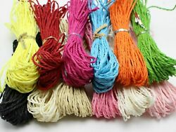 100 Meters Mulberry Paper String Cord Scrapbooking Crafting 14 Color For Choice $3.59