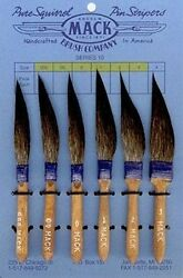 Mack Sword Striper Series 10 Blue Squirrel Hair Pinstriping Brushes Choose Sizes $120.00