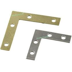 Flat Braces L Shape Angle Brackets Mirror Frame Corner Fix Edge Windows Pictures