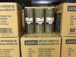 6 Rolls Premium Brown Carton Box Sealing Packing Tape 2.5 Mil Thick 2