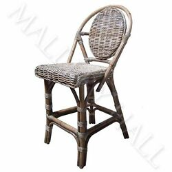 All Weathered Wicker Over Aluminum Natural Gray Swivel Chair