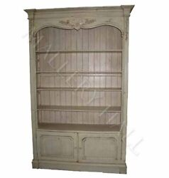 Open Linen French Bookcase TV Unit Entertainment Center Display