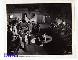 Frank Borzage directs Deanna Durbin VINTAGE Ph His Butler's Sister candid on set