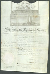 JAMES MADISON - WHALING SHIPS PAPERS SIGNED 12161813 WITH CO-SIGNERS