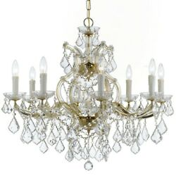 Crystorama Maria Theresa 9 Light Clear Crystal Gold Chandelier 4408 GD CL MWP $834.99