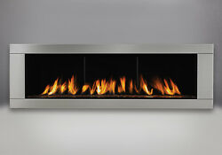 Napoleon Vector™ 62 LHD62 SB Gas Fireplace Topaz Ember Stainless steel Surround