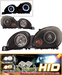 Fits For Xenon 98-05 GS300 GS400 CCFL Halo Projector Headlights