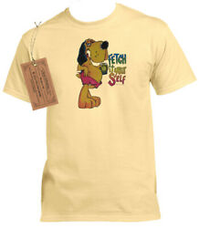 1 FETCH IT YOURSELF HOUND DOG BREED PET HUMOR GEAR T SHIRT GRAPHIC BEER NOVELTY $19.99