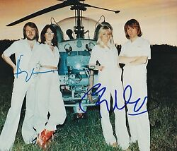 BJORN ULVAEUS BENNY ANDERSSON SIGNED ABBA 8X10 PHOTO DANCING QUEEN SHOWSTUFF