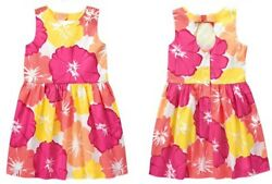 NWT Gymboree Girls FRUIT PUNCH Tropical Flower Floral Dress Size 6