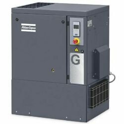 Atlas Copco G7 10-HP Tankless FF Rotary Screw Air Compressor w Dryer (208-23...