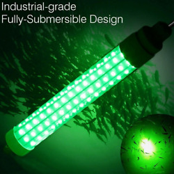 12V LED Underwater Submersible Fishing Light Green Crappie Shad Squid Lamp $14.89