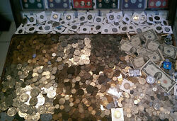 ☆ 100 Coin Lot From Old Estate Hoard! ☆ GOLD .999 SILVER BULLION Proof Roman ☆ $67.50